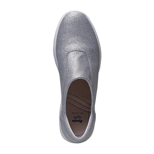 Sneakers argentate da donna bata, argento, 519-1335 - 19