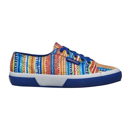 Sneakers con motivo colorato superga, blu, 589-9191 - 15