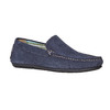 Mocassini in pelle blu bata, blu, 853-9104 - 13