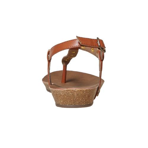 Sandali da donna con suola in sughero bata, marrone, 561-3292 - 17