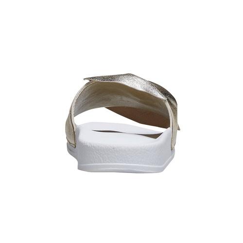 Ciabatte slides con fiocco bata, oro, 564-8116 - 16