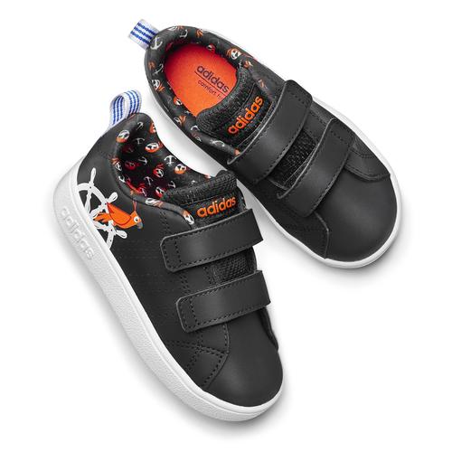 Adidas bimbi adidas, nero, 101-6133 - 19