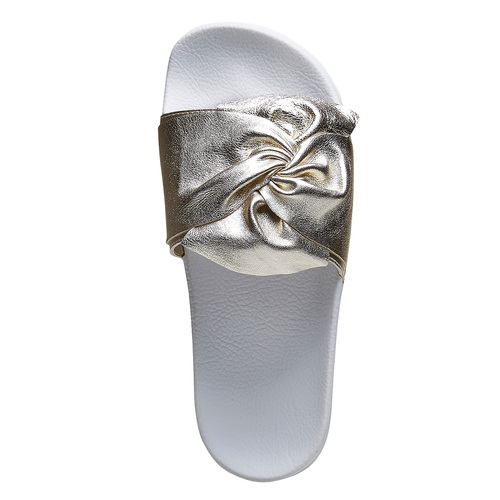 Ciabatte slides con fiocco bata, oro, 564-8116 - 15