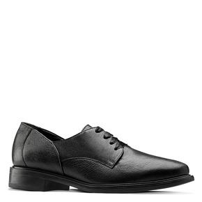 Scarpe stringate in pelle bata, nero, 524-6664 - 13