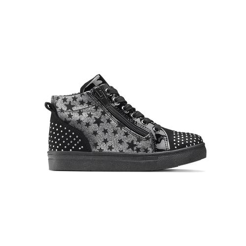 Sneakers alte con strass mini-b, nero, 229-6204 - 26