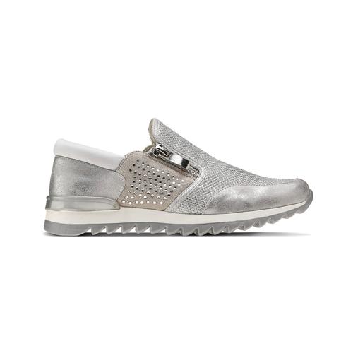 Sneakers glitter, argento, 329-1298 - 26