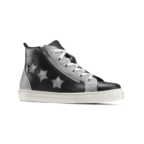Sneakers alte con stelle north-star, nero, 324-6278 - 13