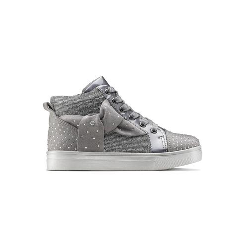 Sneakers con fiocco mini-b, grigio, 229-2205 - 26