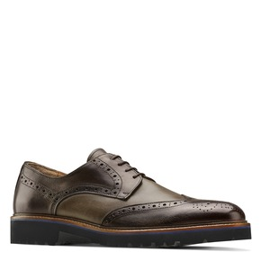Stringate Derby in pelle bata-the-shoemaker, marrone, 824-4186 - 13