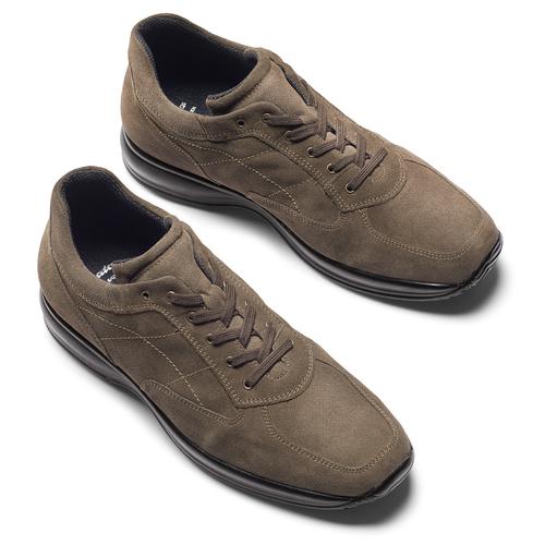 Scarpe in pelle scamosciata bata, marrone, 843-3315 - 19