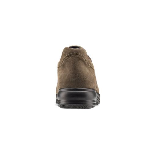 Scarpe in pelle scamosciata bata, marrone, 843-3315 - 16