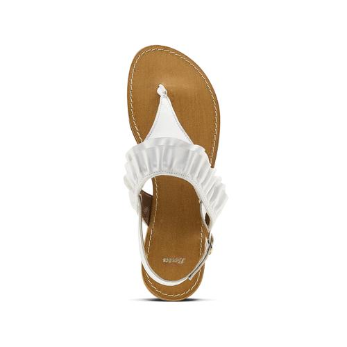 Sandali bassi con volant bata, bianco, 564-1118 - 15