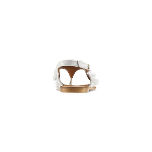 Sandali bassi con volant bata, bianco, 564-1118 - 16