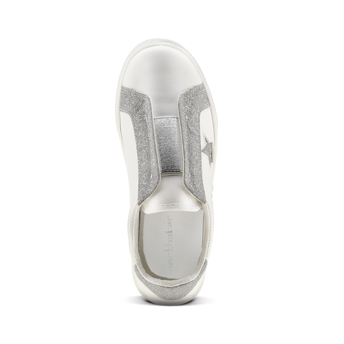 Sneakers bianche con stelle argento, bianco, 324-1306 - 15