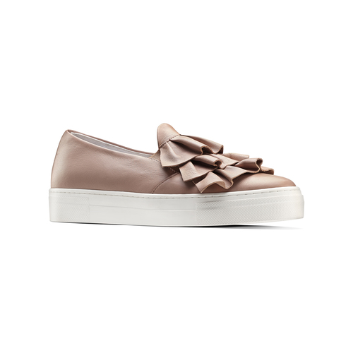 Sneakers in pelle rosa con rouches north-star, rosa, 514-5135 - 13