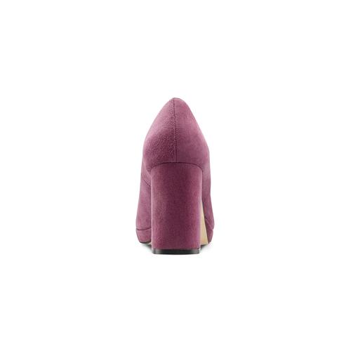 Décolleté viola con tacco largo bata, rosso, 723-5950 - 16