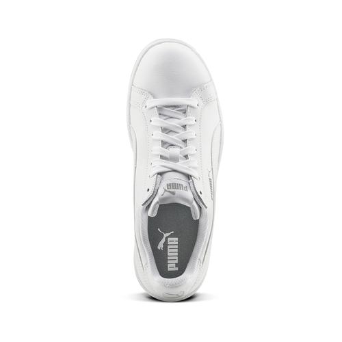 Sneakers da donna di pelle puma, bianco, 504-1110 - 15