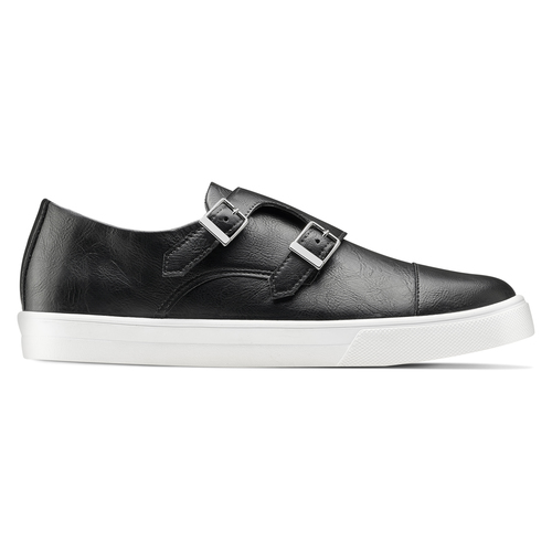 Slip-on nere con fibbie north-star, nero, 831-6110 - 26