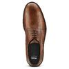 Derby in pelle con punta tonda bata, marrone, 824-3997 - 15
