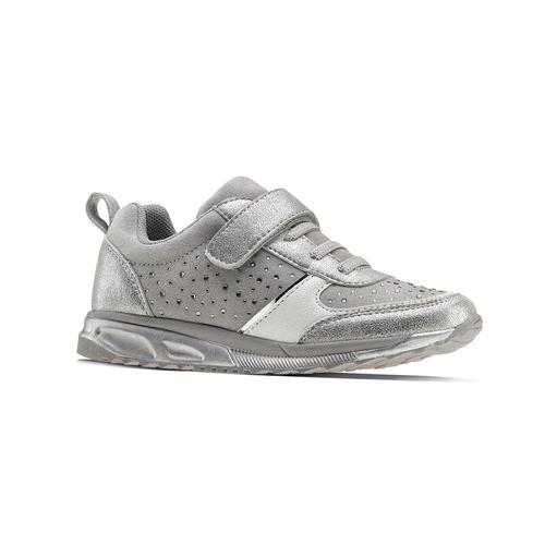 Sneakers con glitter da bambina mini-b, turchese, argento, 329-2295 - 13