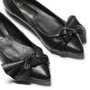 Ballerine in pelle con fiocco bata, nero, 524-6649 - 19