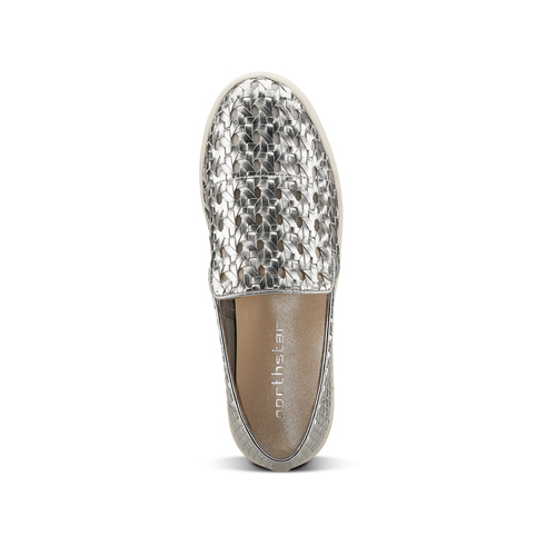 Slip-on intrecciate argento north-star, argento, 541-1324 - 15