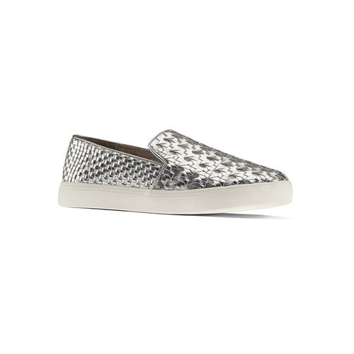 Slip-on intrecciate argento north-star, argento, 541-1324 - 13