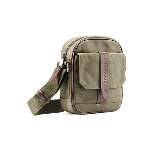 Tracolla da uomo con tasca esterna bata, khaki, 969-7126 - 13