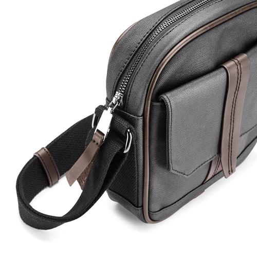 Tracolla da uomo con tasca esterna bata, nero, 969-6126 - 15