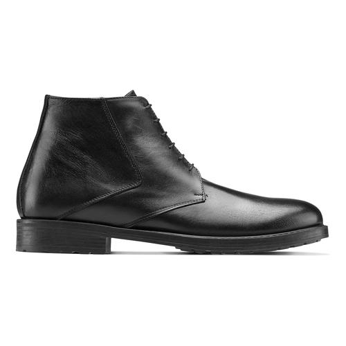 Boots da uomo in pelle nera bata, nero, 824-6115 - 26