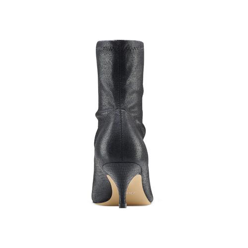 Stivaletti calzino con tacco bata, nero, 699-6171 - 16
