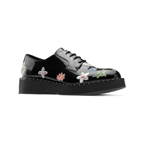 Sneakers stringate con ricami floreali RMrudBx