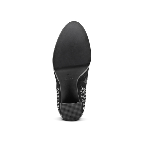 Tronchetti da donna con strass bata, nero, 799-6659 - 17