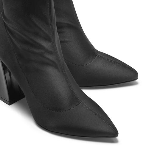 Stivaletti calzino con tacco bata, nero, 799-6647 - 15