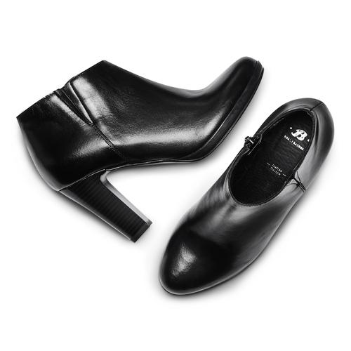 Stivaletti donna con tacco bata, nero, 794-6671 - 26