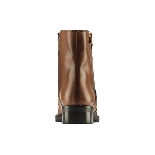Stivaletti in pelle con doppia zip bata, marrone, 594-3330 - 16