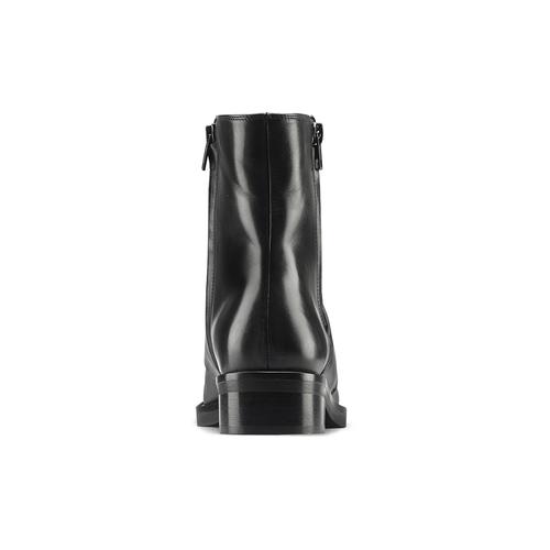 Stivaletti neri in pelle  bata, nero, 594-6330 - 16