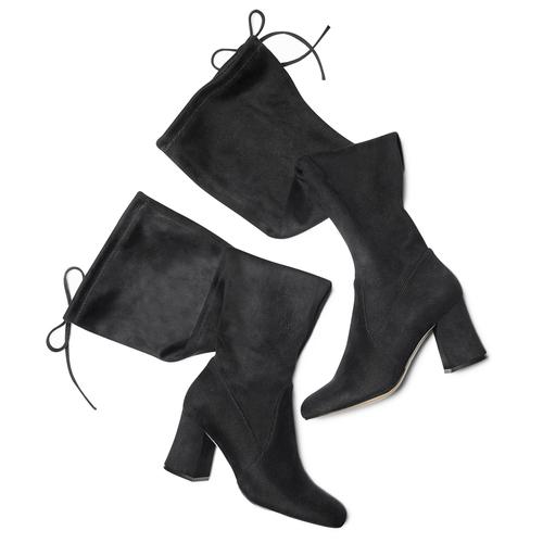 Stivali Kristen con tacco bata, nero, 799-6661 - 19
