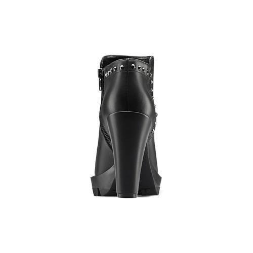 Tronchetti da donna con borchie bata, nero, 791-6666 - 16