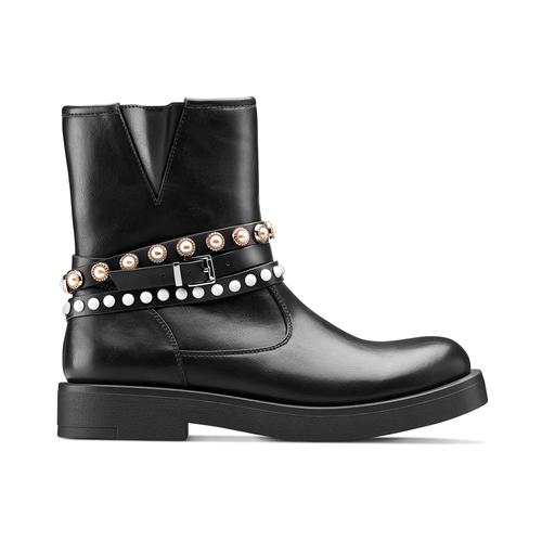 Stivaletti con perle bata, nero, 591-6145 - 26