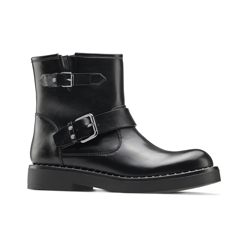 Ankle boots Courtney bata, nero, 591-6143 - 13