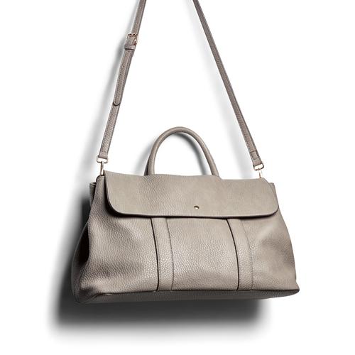 Handbag in similpelle bata, beige, 961-2203 - 17