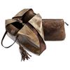 Shopper con borsello e nappina bata, oro, 961-8200 - 17