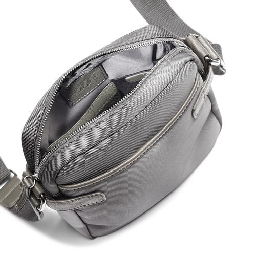 Tracolla da uomo con dettaglio bata, grigio, 969-2366 - 16