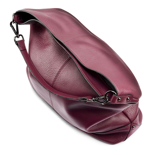 Shopper in pelle bordeaux bata, rosso, 964-5261 - 17