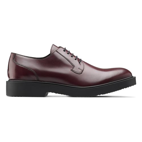 Scarpe derby color vinaccia bata, rosso, 824-5157 - 26