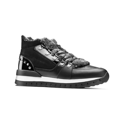 Sneakers da donna dettaglio pelliccia north-star, nero, 549-6318 - 13