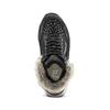 Scarpe bimba dettaglio pelliccia mini-b, nero, 329-6287 - 15