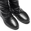Stivali con dettaglio arricciato bata, nero, 594-6355 - 15