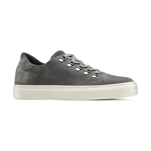 Sneakers in suede da uomo north-star, grigio, 843-2736 - 13